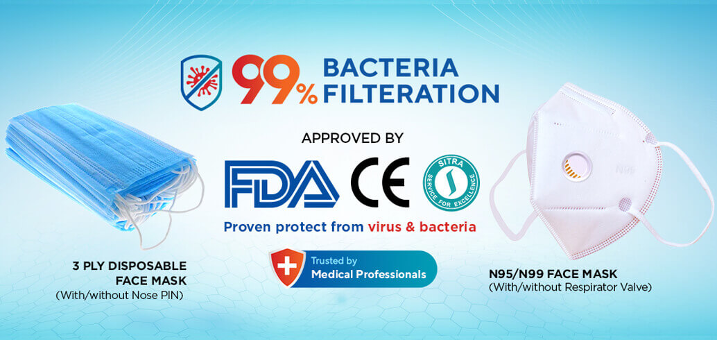 99% Bacteria Filteration