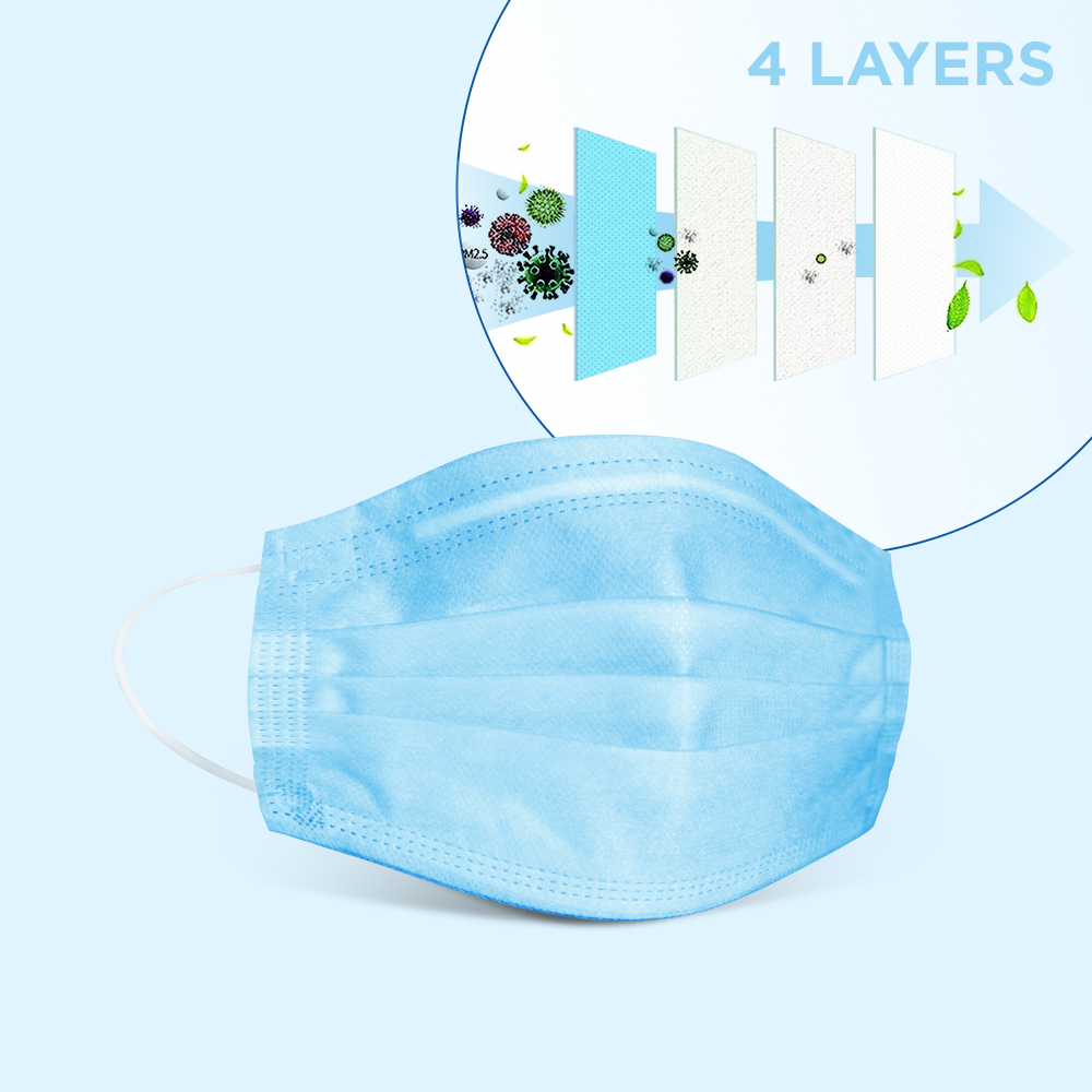 4 Ply disposable Surgical mask